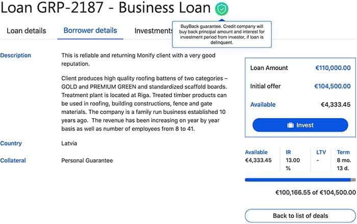 grupeer p2p loan may 2019
