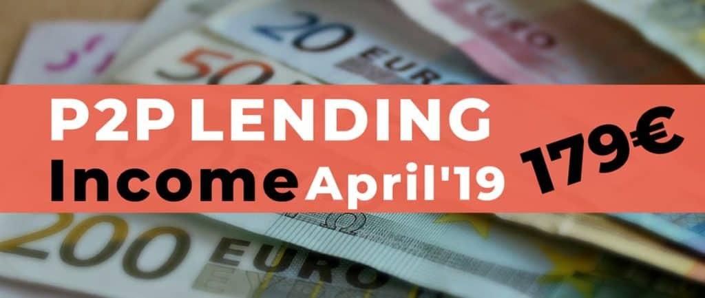 P2P Lending Income April 2019