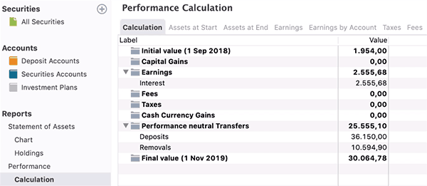 portfolio performance calculation