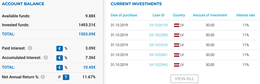 Viainvest account