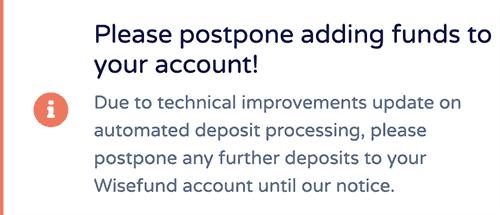 wisefund technical improvements