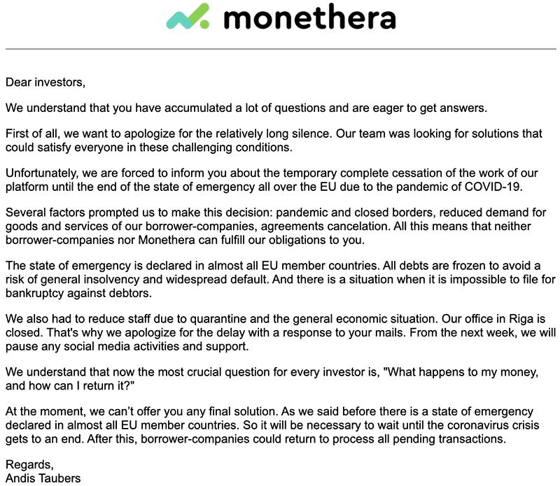 monethera statement